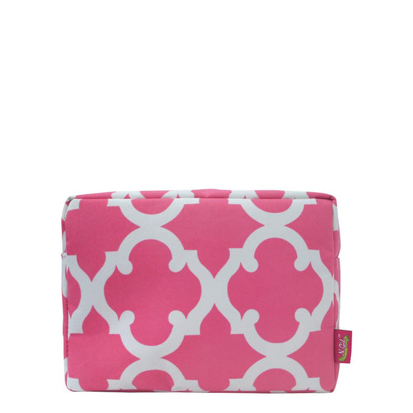 NGIL Large Travel Cosmetic Pouch Bag Geo Pink