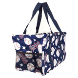 "EGFAS All Purpose Open Top 23"" Classic Extra Large Utility Tote Bag (Baseball Navy Blue)"