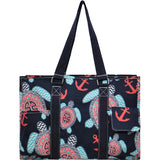 NGIL All Purpose Organizer Medium Utility Tote Bag Sea Turtle