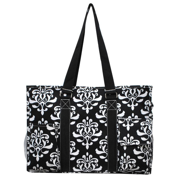 NGIL All Purpose Organizer Medium Utility Tote Bag Bloom Damask
