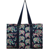 "NGIL All Purpose Organizer 18"" Large Utility Tote Bag Elephant"