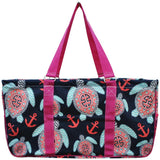 "NGIL All Purpose Open Top 23"" Classic Extra Large Utility Tote Bag Sea Turtle"