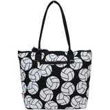 NGIL Quilted Medium Tote Bag Volleyball Black