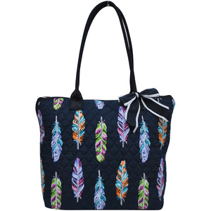 NGIL Quilted Medium Tote Bag Feather