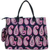 Extra Large Quilted Cotton Tote Bag Paisley
