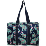 "NGIL All Purpose Organizer 18"" Large Utility Tote Bag Baby Elephant"