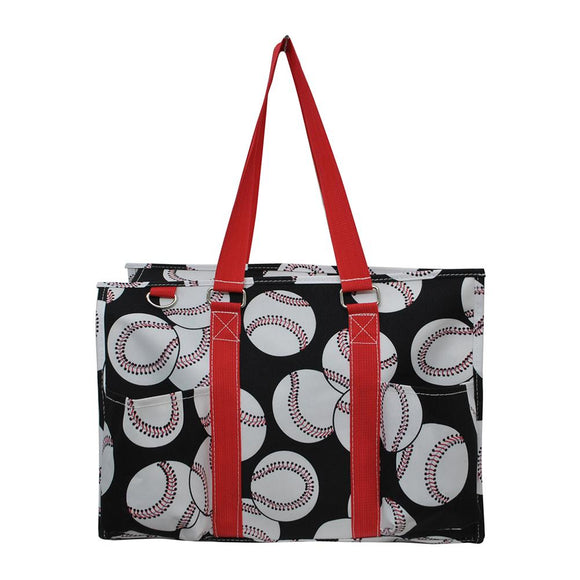 NGIL All Purpose Organizer Medium Utility Tote Bag Baseball