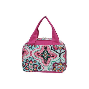 NGIL Insulated Lunch Bag Floral Garden Hot Pink