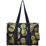 "NGIL All Purpose Organizer 18"" Large Utility Tote Bag Golden Pineapple"