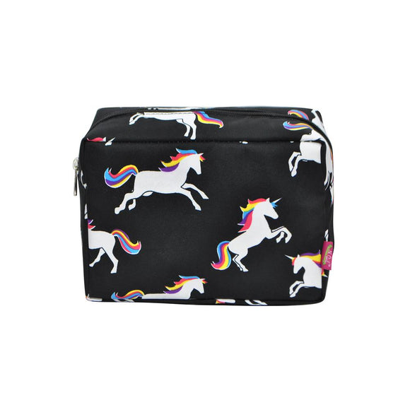 NGIL Large Travel Cosmetic Pouch Bag Unicorn Black