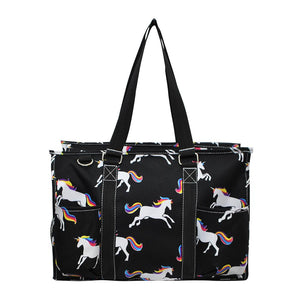 NGIL All Purpose Organizer Medium Utility Tote Bag Unicorn Black