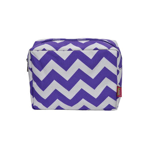 NGIL Large Travel Cosmetic Pouch Bag Chevron Purple