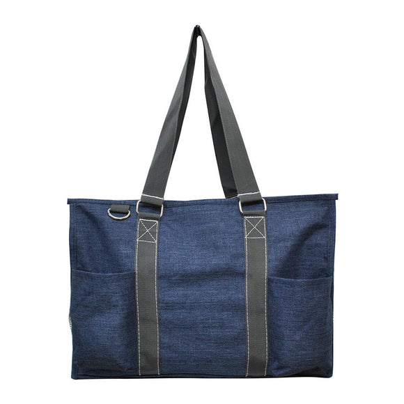 NGIL All Purpose Organizer Medium Utility Tote Bag Crosshatch
