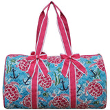 NGIL Quilted Cotton Large Duffle Bag Turtle and Me