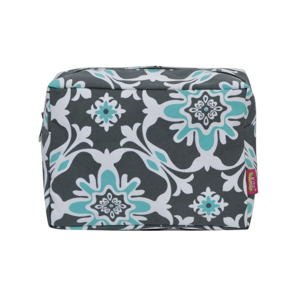 NGIL Large Travel Cosmetic Pouch Bag Quatro Vine Grey