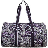 NGIL Quilted Cotton Large Duffle Bag Paisley Park Purple