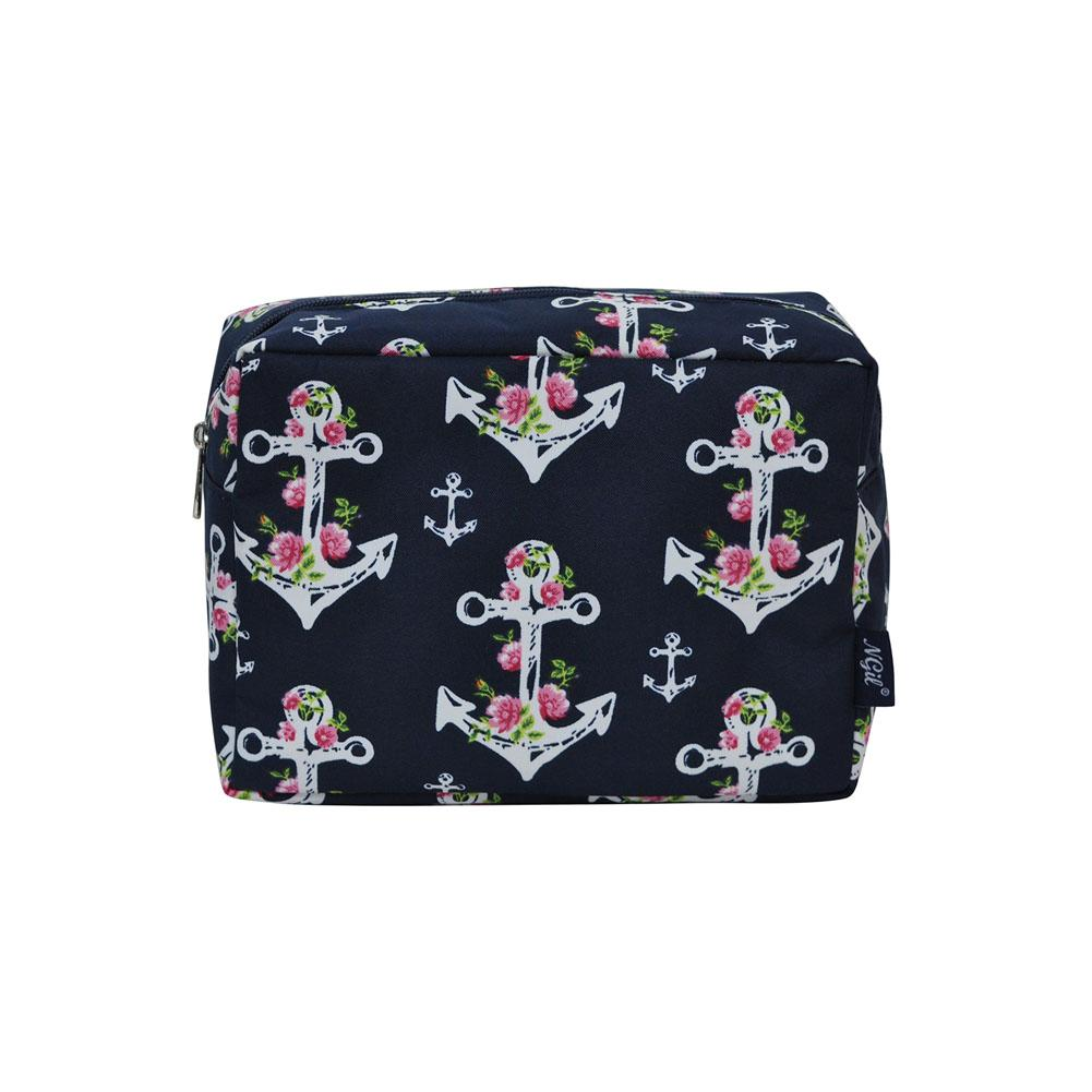 6296ef6c7d52 NGIL Large Travel Cosmetic Pouch Bag Rose Anchor Navy
