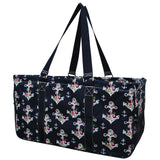 "NGIL All Purpose Open Top 23"" Classic Extra Large Utility Tote Bag Rose Anchor Navy"