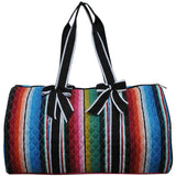 NGIL Quilted Cotton Large Duffle Bag Serape Black