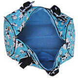 NGIL Quilted Cotton Large Duffle Bag Cow Aqua Blue