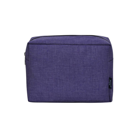 Large Travel Cosmetic Pouch Bag Crosshatch