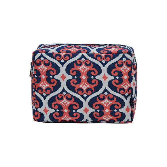 NGIL Large Travel Cosmetic Pouch Bag Classy Vine Navy