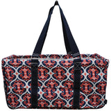 "NGIL All Purpose Open Top 23"" Classic Extra Large Utility Tote Bag Classy Vine Navy"