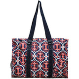 "NGIL All Purpose Organizer 18"" Large Utility Tote Bag Classy Vine Navy"
