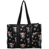 "NGIL All Purpose Organizer 18"" Large Utility Tote Bag Bull Skull"