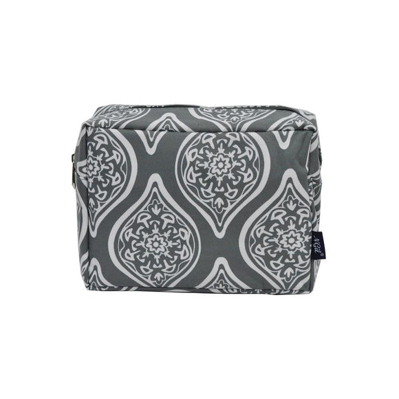 NGIL Large Travel Cosmetic Pouch Bag Marquise in Bloom Grey