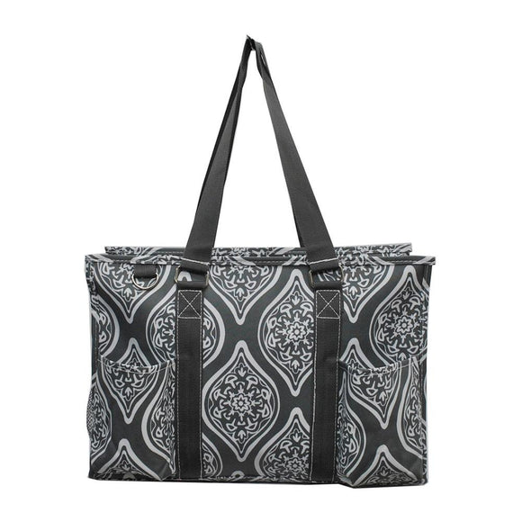 NGIL All Purpose Organizer Medium Utility Tote Bag Marquise In Bloom Grey