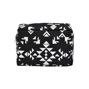 NGIL Large Travel Cosmetic Pouch Bag Tribal Black White