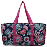 "NGIL All Purpose Open Top 23"" Classic Extra Large Utility Tote Bag Medievil Blossom"