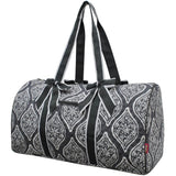 NGIL Quilted Cotton Large Duffle Bag Marquise in Bloom Grey
