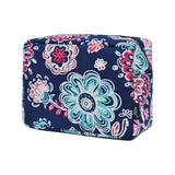 NGIL Large Travel Cosmetic Pouch Bag Medievil Blossom Navy