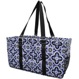 "NGIL All Purpose Open Top 23"" Classic Extra Large Utility Tote Bag Quatre Paradise Black"