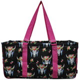 "NGIL All Purpose Open Top 23"" Classic Extra Large Utility Tote Bag Bull Skull"