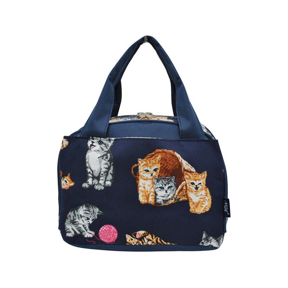 NGIL Insulated Lunch Bag Kittens Navy Blue
