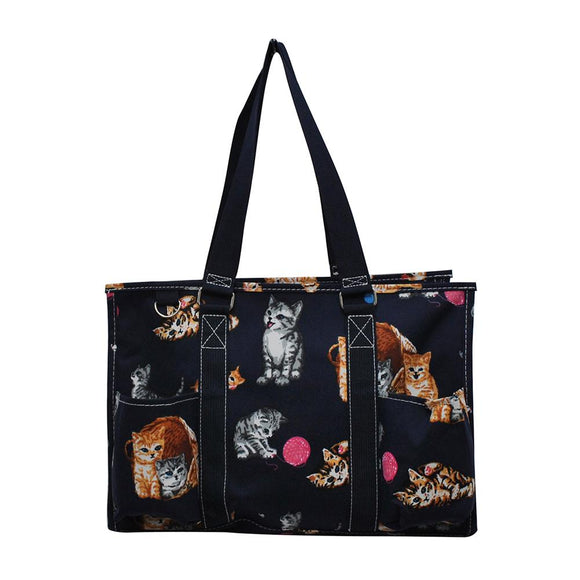 NGIL All Purpose Organizer Medium Utility Tote Bag Kitten Navy