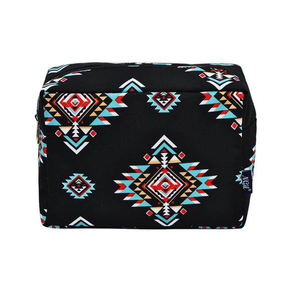 NGIL Large Travel Cosmetic Pouch Bag Southern Tribe Black