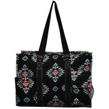 "NGIL All Purpose Organizer 18"" Large Utility Tote Bag Southern Tribe Black"