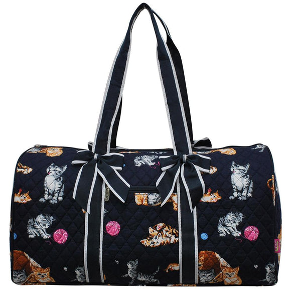 NGIL Quilted Cotton Large Duffle Bag Kitten Navy