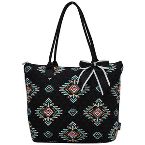 NGIL Quilted Medium Tote Bag Southern Tribe Black
