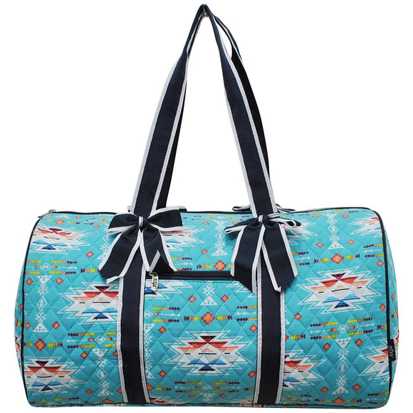 NGIL Quilted Cotton Large Duffle Bag Southern Aztec Serape