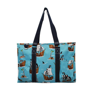 NGIL All Purpose Organizer Medium Utility Tote Bag Pirate Battleship Navy
