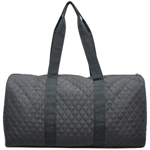 NGIL Quilted Cotton Large Duffle Bag Solid Grey