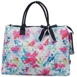 NGIL Extra Large Quilted Cotton Tote Bag Summer Water Color Navy