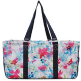 "NGIL All Purpose Open Top 23"" Classic Extra Large Utility Tote Bag Water Color Navy"