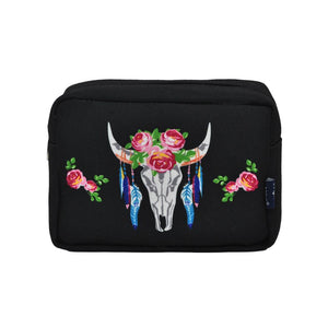 NGIL Large Travel Cosmetic Pouch Bag Steer Head