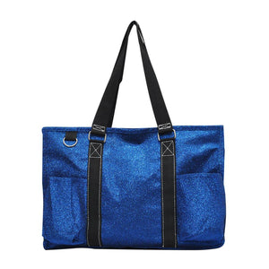 NGIL All Purpose Organizer Medium Utility Tote Bag Glitter Royal Blue